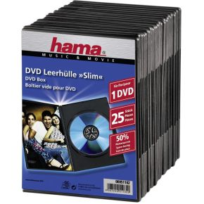 Image of 1x25 Hama DVD-cases Slim 51182