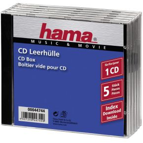 Image of 1x5 Hama CD-Box Jewel-Case 44744