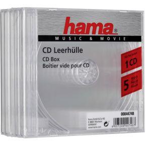 Image of 1x5 Hama CD-Box transparant Jewel-Case 44748
