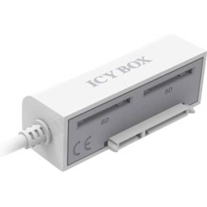 ICY BOX Adapter Kabel IcyBox 6,3cm SATA SSD-HDD->USB 3.0+2xSD-kaartn (11607)