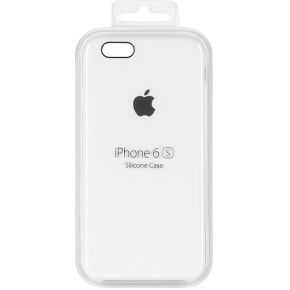 Apple Silikon Case iPhone Case Geschikt voor model (GSM's): Apple iPhone 6S, Apple iPhone 6 Wit