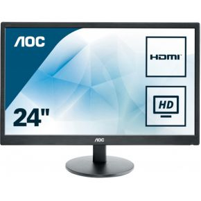 Image of AOC E2470SWHE 23.6 Zwart Full HD LED display