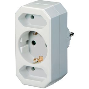 Brennenstuhl Adapterstecker Euro 2 + Schutzkontakt 1        wit retail (1508050)