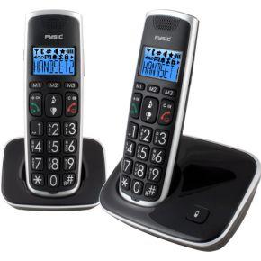Image of Fysic DECT Telefoon FX-6020 met 2 handsets (zwart)