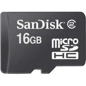 Geheugenkaart Sandisk Micro SDHC 16Gb zwart