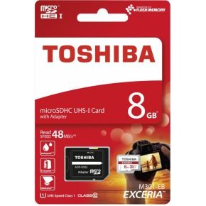Toshiba MEM Micro SD EXERIA 8GB RED (THN-M301R0080EA)