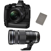 Image of Olympus OM-D E-M1 + 12-40mm + 40-150mm - zwart