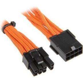 Image of BitFenix 6+2-Pin PCIe Verlengkabel 45cm - sleeved oranje