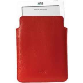 Kobo Touch Leather Top Load Pocket Rood