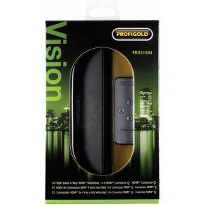 Profigold High Speed HDMI 4-weg Switchbox met afstandsbeiding