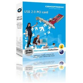 Image of Conceptronic 5 poorts USB 2.0 PCI Card