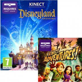 Microsoft Xbox 360 Slim 4GB + Kinect Adventures + Kinect Disneyland + Kinect