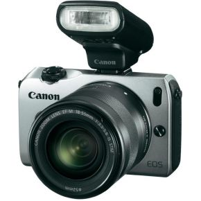 Image of Canon EOS M & EF-M 18-55mm f/3.5-5.6 IS silver