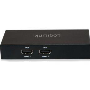 LogiLink LogiLink 4K Mini DisplayPort 1.2 1xmini DP to 2xHDMI (CV0094)