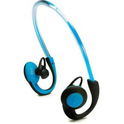 Sport Koptelefoon Bluetooth In Ear Headset, Oorbeugel, Bestand tegen zweet, Waterafstotend Blauw