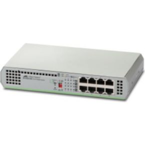Allied Telesis AT-GS910-8-50 Unmanaged Gigabit Ethernet (10-100-1000) Grijs