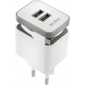 Image of ACME CH17 Powerful 2-voudig USB laadapparaat opgerolde kabel