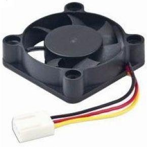 Image of 40x40x10mm kogellager DC fan, 12 V, 70 mm kabel - Quality4All