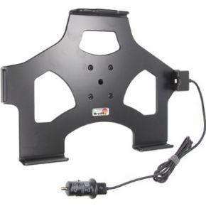 Brodit Active Holder w- Cig-Plug, 12V In, Tilt Swivel, Black, f-iPad (521520)