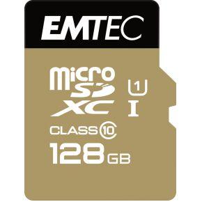 Emtec SD MicroSD Card 128GB Emtec  SDXC CL.10 Gold + (ECMSDM128GXC10GP)