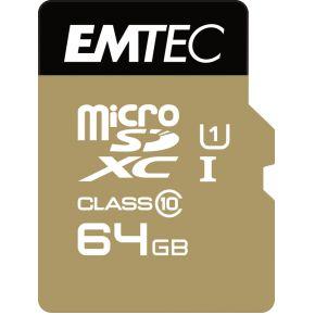MicroSDXC 64GB EMTEC +Adapter CL10 Gold+ UHS-I 85MB-s Blister Emtec