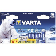 Image of 1x10 Varta High Energy Micro AAA LR 03 Ice Bear Limited Ed.