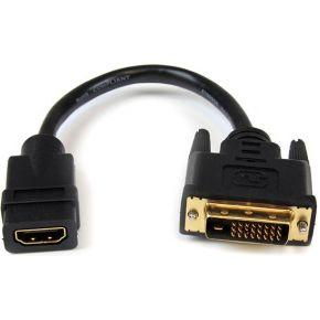 StarTech.com 20cm HDMI naar DVI-D Video Verloopkabel HDMI Vrouwtje naar DVI Mannetje