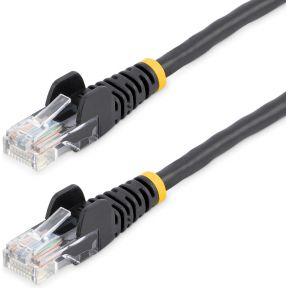 StarTech.com 45PAT5MBK 5m Cat5e U-UTP (UTP) Zwart netwerkkabel