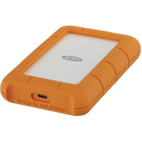LaCie Rugged USB-C USB Type-C 3.1 (3.1 Gen 2) 4000GB Oranje, Zilver
