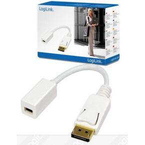 LogiLink DisplayPort Adapter [1x Mini-DisplayPort bus => 1x DisplayPort stekker] Wit