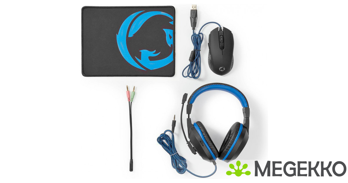 Megekko.nl Nedis Gaming Combo Kit 3 in 1 Headset Mouse and Mouse Pad