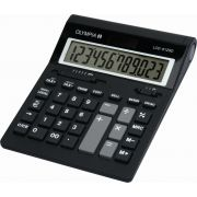 Olympia LCD 612 SD Desktop Basisrekenmachine Zwart calculator