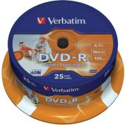 DVD-R Verbatim 16X 25st. Spindle printable