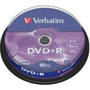 DVD+R Verbatim 16X 10st. Spindle