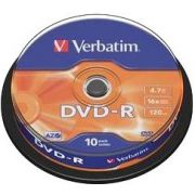DVD-R Verbatim 16X 10st. Spindle