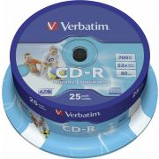 CDR Verbatim 80m. 52x 25st. Spindle Printable