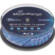 Blu-ray MediaRange 25GB 25st. 4x Spindle Recordable
