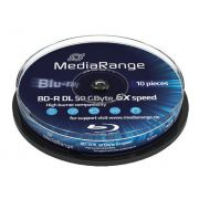 Blu-ray MediaRange 50GB 10st. 4x Spindle Recordable
