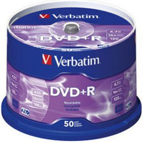 DVD+R Verbatim 16X 50st. Spindle