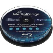 Blu-ray MediaRange 25GB 10st. 6x Spindle Recordable