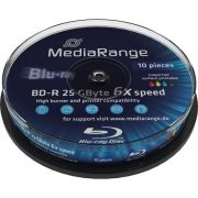 Blu-ray MediaRange 25GB 10st. 6x Spindle Printable Recordable
