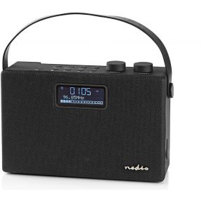 Nedis Digitale DAB+ radio | 15 W | FM | Bluetooth® | Zwart / zwart