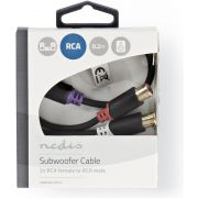Nedis-Subwooferkabel-RCA-male-2x-RCA-female-0-2-m-Antraciet-CABW24010AT02-