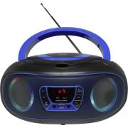 Denver Electronics TCL-212BT BLUE cd-speler Portable CD player Zwart, Blauw