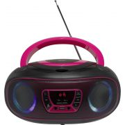 Denver Electronics TCL-212BT PINK Portable CD player Zwart, Roze