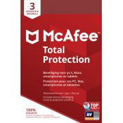 McAfee Total Protection, 3 Devices (Dutch / French)