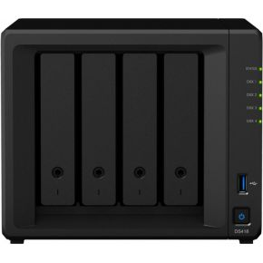 Synology DiskStation DS418 Ethernet LAN Mini Toren Zwart NAS