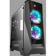 Azza Chroma 410 computer ATX Black Midi Tower Behuizing