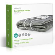 Nedis Electric Blanket | Under-Blanket | 160 x 140 cm | 9 Heat Settings | Indicator Light | Overheat Prote