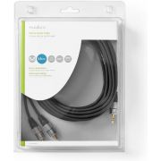 Nedis Stereo Audio Cable | 3.5 mm Male - 2x RCA Male | 5.00 m | Anthracite